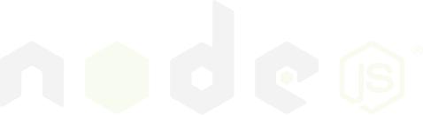 nodejs logo vector white
